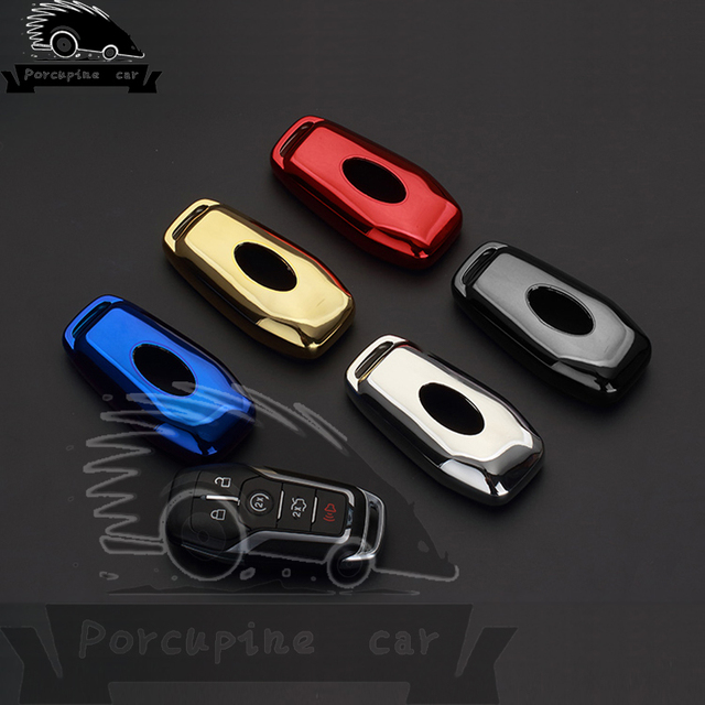 Colorful Tpu Key Case Cover Shell For 2017 2016 Ford Fusion Mondeo Mustang F 150