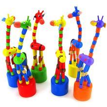 Игрушки, развивающие игрушки, детский подарок, детская интеллектуальная игрушка, танцующая подставка, красочная качалка, жираф, деревянные детские игрушки#40