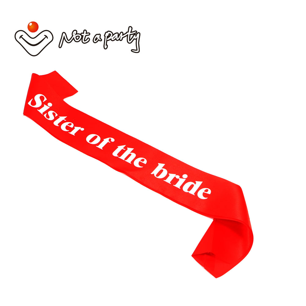 12pcs of Wedding sashes Sister of the bride party dress bachelorette ...