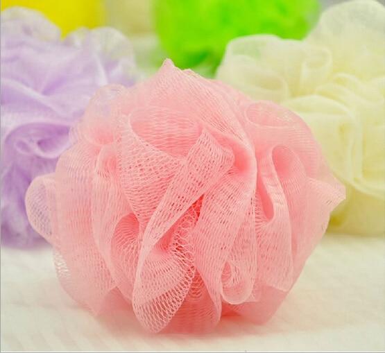 Loofah Flower Bath Ball Bath Tubs Cool Ball Bath Towel Scrubber Body Cleaning Mesh Shower Wash Sponge  Wholesale and retail
