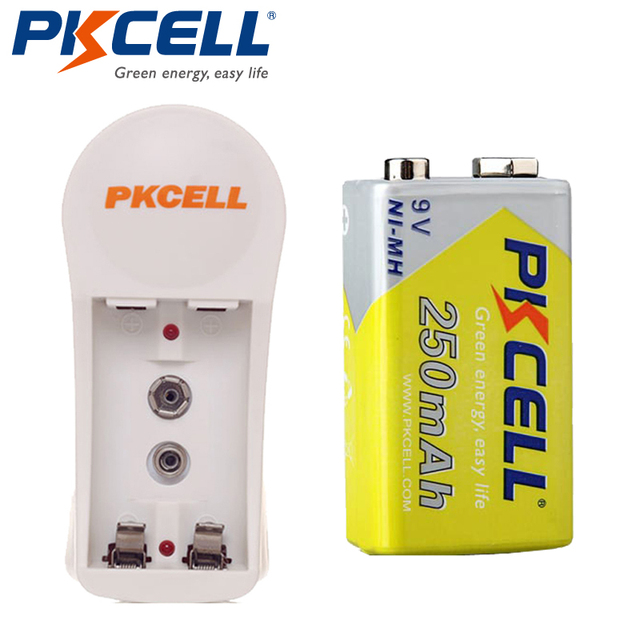 1 Unids 250 mAh 9 V Ni-MH Batería Recargable con 1 Unids Cargador de Batería 8126 Ronda adaptador de LA UE/EE. UU. enchufe para MP3/MP4 jugador juguetes