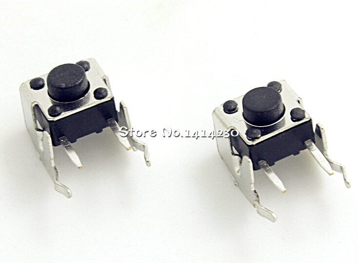 100Pcs Tact Switch 6*6*5mm Horizontal With Bracket Tactile Push Button Switches 6x6x5mm Micro Switch