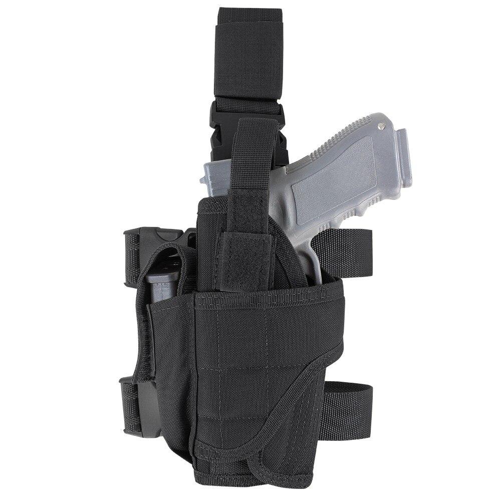 CQC Universal Left Right Hand Gun Holster Military Airsoft Tactical Tornado Drop Leg Thigh HandGun Pistol Holster