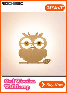 Owl Wooden Wall Lamp