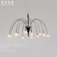 Свет люстры светодиодные лампы для спальни творческий метеорный поток стиль арт освещения