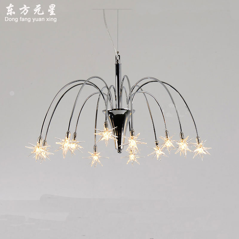 led chandelier light LED lamp for bedroom creative meteor shower style art lighting