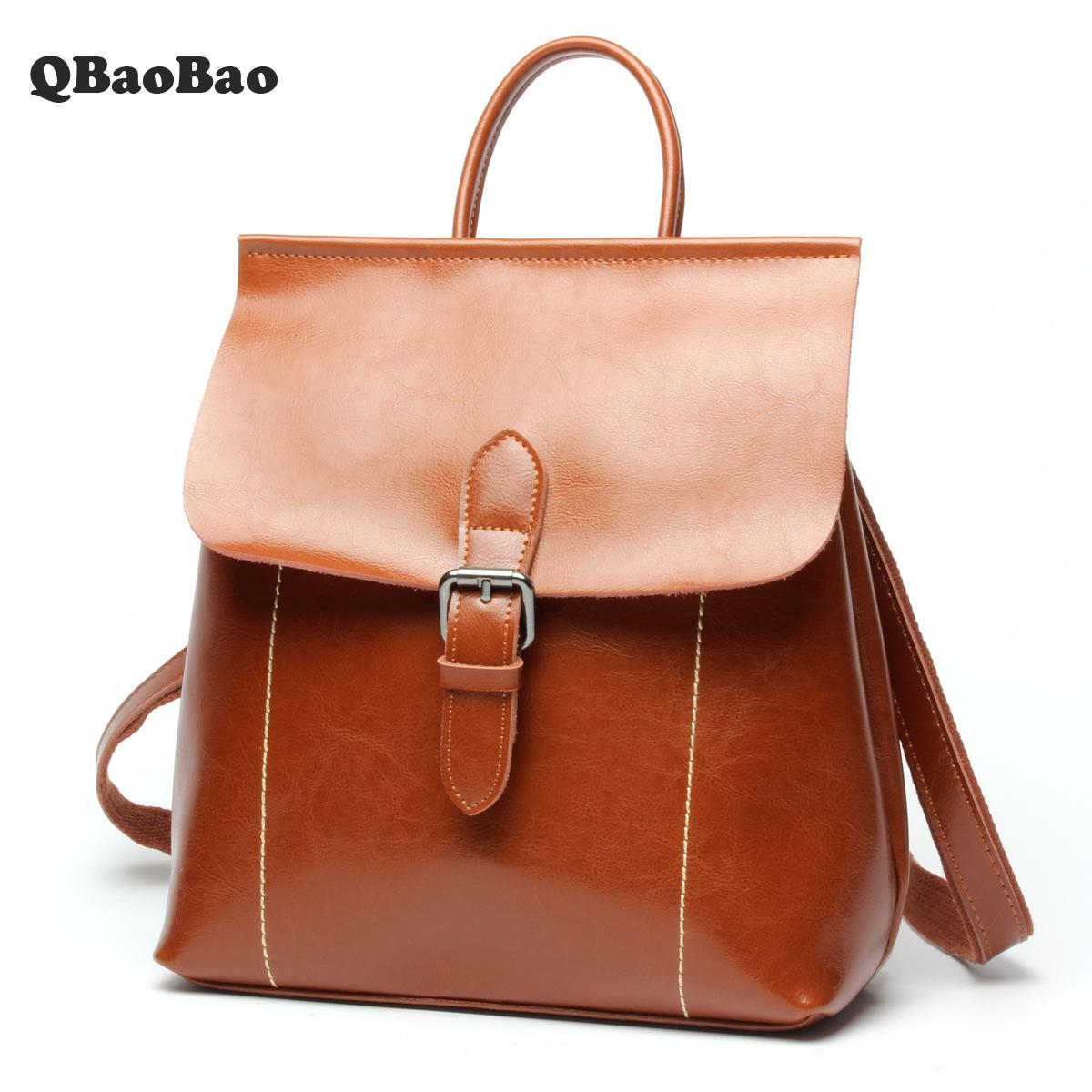 Lady Leather Backpack Multifunctional Fashion School Bags New Teenage Girl Backpacks Fashion High Quality Female Backpack best bags fashion lady 1301 71