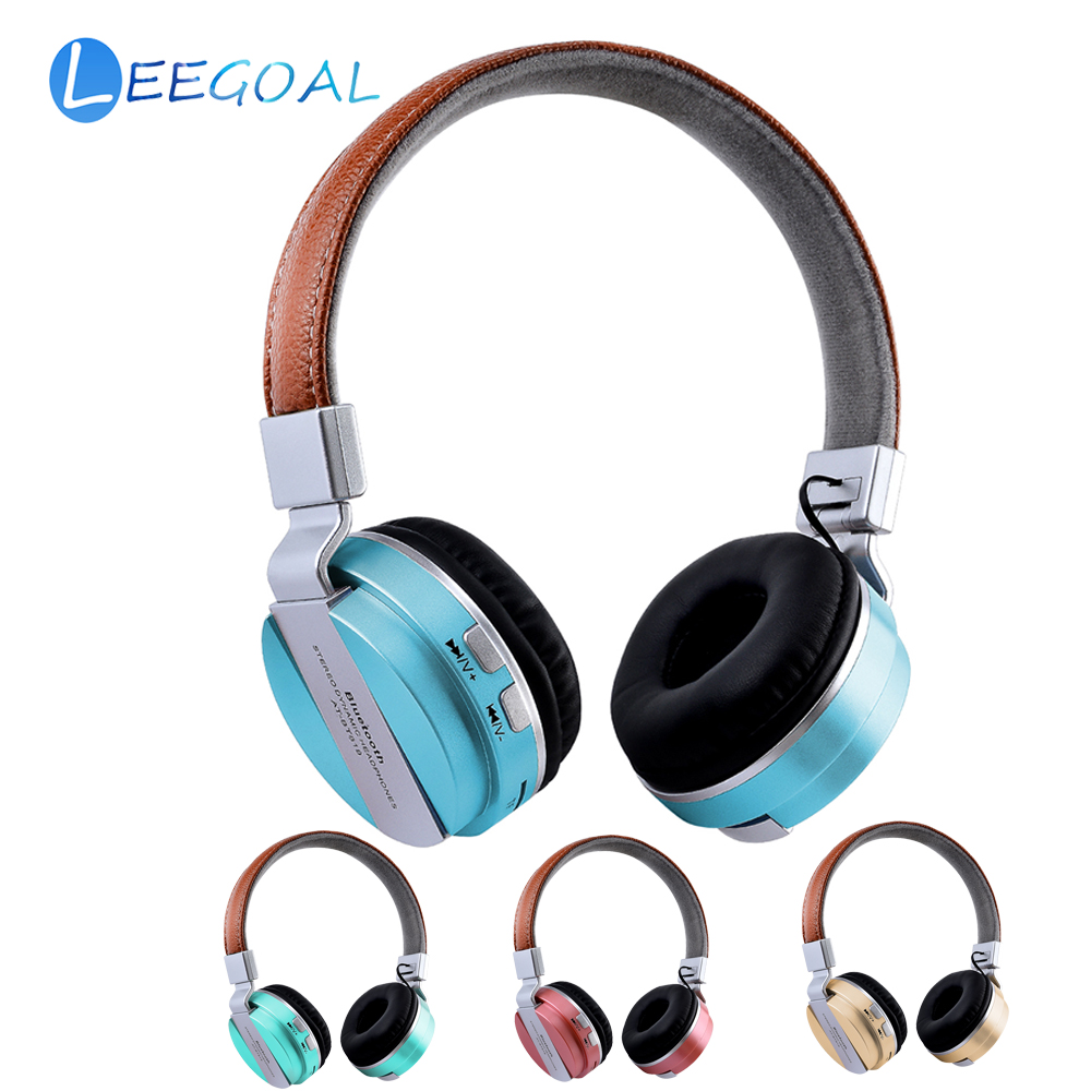 Wireless Bluetooth Headphone Support FM TF Card Hi-Fi Stereo Foldable Sport Headset Built-in Mic and Wired Mode Game Earphone
