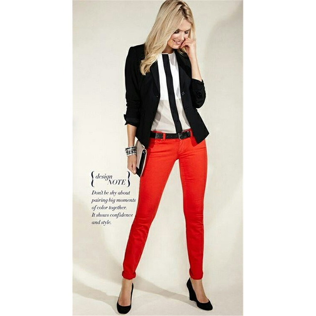 3907b30aa5862 Black Jacket Red Pants Womens Business Suits Female Office Uniform Ladies  Trouser Suits Formal Evening Tuxedo 2 Piece Set Blazer