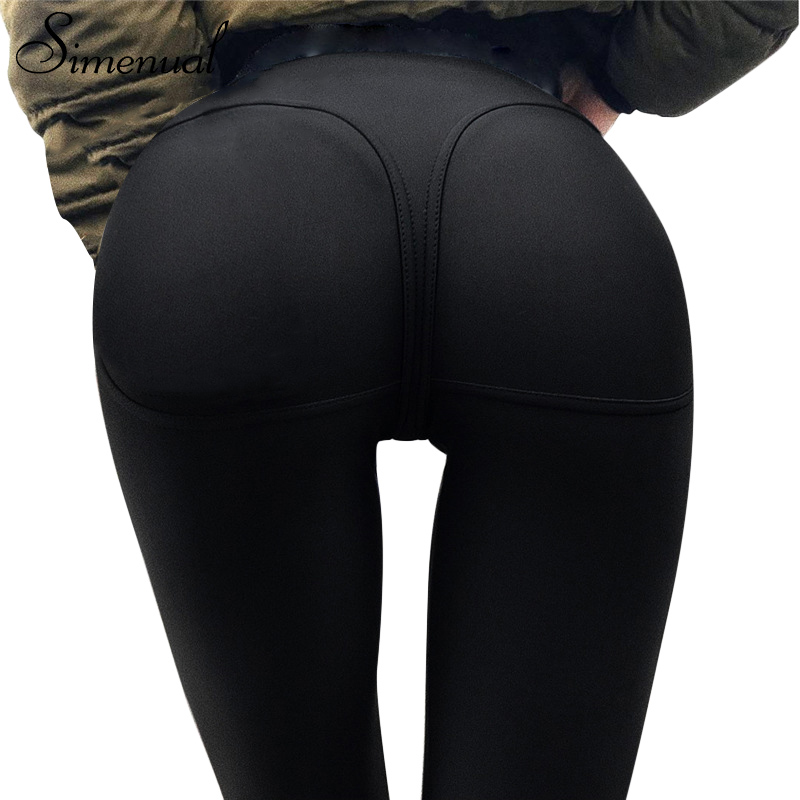Simenual 2018 Heart leggings for sportswear women push up sexy slim fitness legging bodybuilding black sporting womens pants