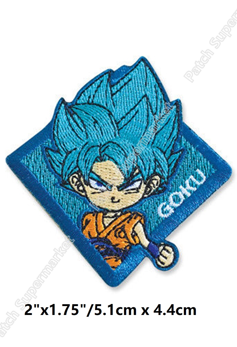 Music Memorabilia Rock & Pop Honesty 3 Dragon Ball Z Goku Blue Patches For Backpack Diy Iron On Applique Japanese Anime Cosplay Full Embroidered For Clothing Diy