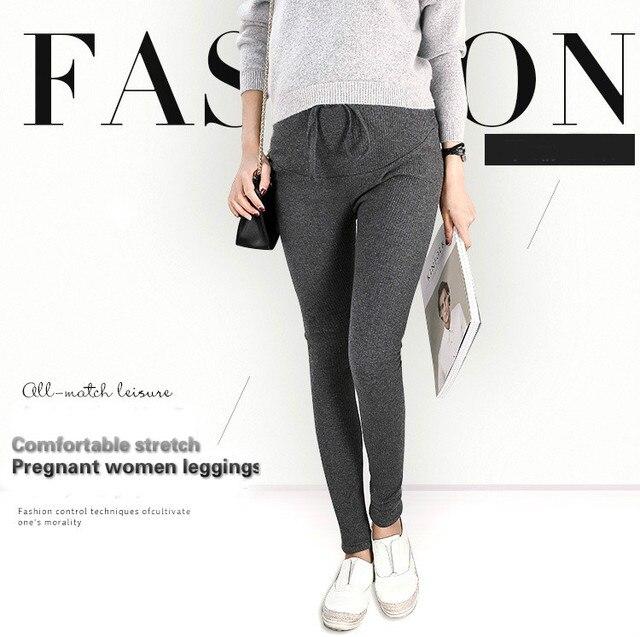 New 95%Cotton Women Pregnant Leggings Adjustable High Elasticity Maternity Leggings Pregnant Pants for Spring Maternity Pants