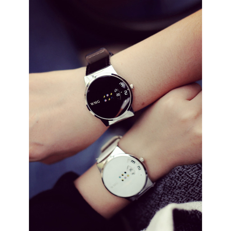 1 pair wrist watch for Women Men Turntable Analog Quartz watches Gift for couples