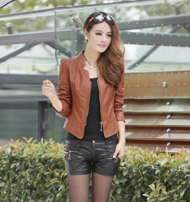 2018 New Fashion Autumn Winter Women Brand Faux Soft   Leather   Jackets Pu Black Blazer Zippers Long Sleeve Motorcycle Coat