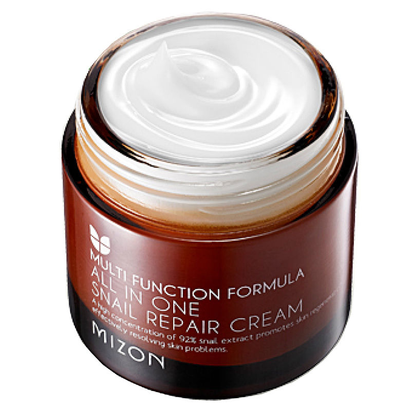 MIZON All In One Snail Repair Cream 75ml Face Cream Treatment Acne Pimples Reduce Scars Moisturizing Anti Wrinkle Face FirmingMIZON All In One Snail Repair Cream 75ml Face Cream Treatment Acne Pimples Reduce Scars Moisturizing Anti Wrinkle Face Firming