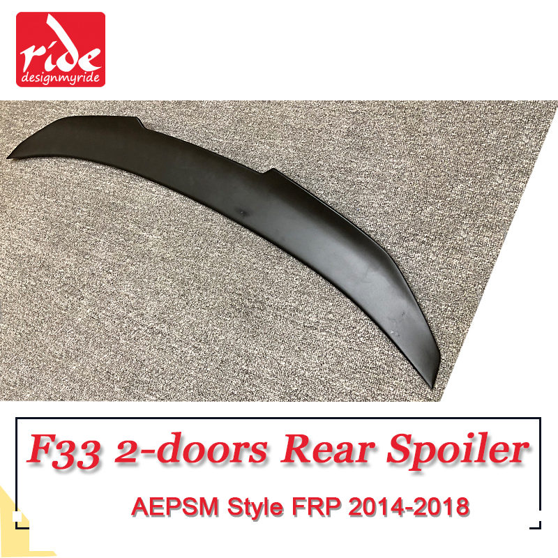 F33 Tail Spoiler Wing FRP Unpainted black AEPSM Style For BMW F33 2 door 420i 428i 430i 435i rear trunk Spoiler wing Lip 2014 18 in Spoilers Wings from Automobiles Motorcycles