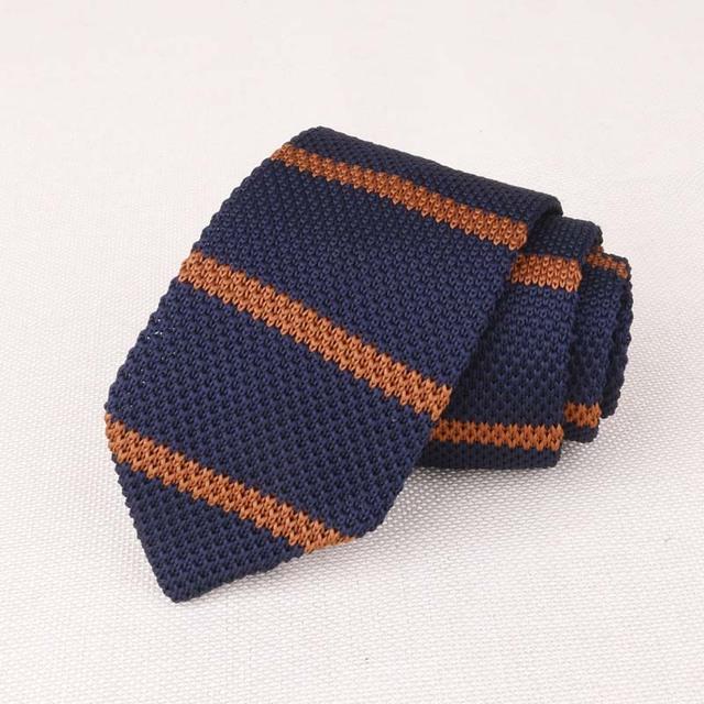 Plain Knit Necktie for Men