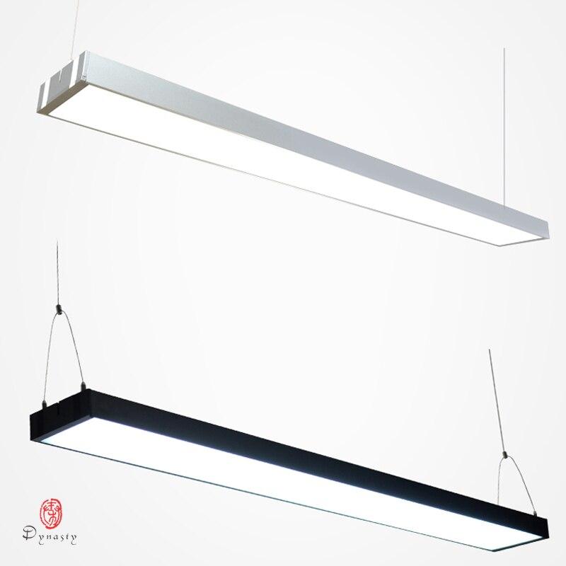 LED Commercial suspendus lumières en aluminium conjonctif bureau suspendu éclairage Long acrylique luminosité projet centre Commercial marché luminaire