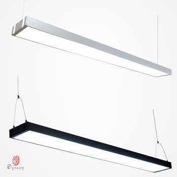 Commercial LED Hanging Lights Aluminum Connective Office Hanging Lighting Long Acrylic Brightness Project Mall Market Fixture