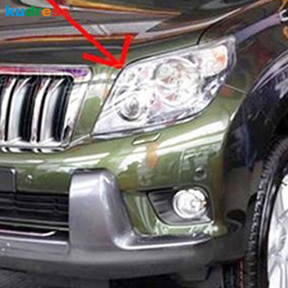 Pour Toyota Prado J150 2010 2011 2012 ABS Chrome couvre-phares avant garniture accessoires de voiture autocollant de style