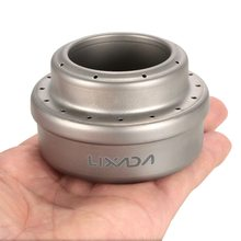 Lixada Outdoor Camping Mini Alcohol Portable Stove 70ml Ultralight Liquid Titanium with Storage Sack