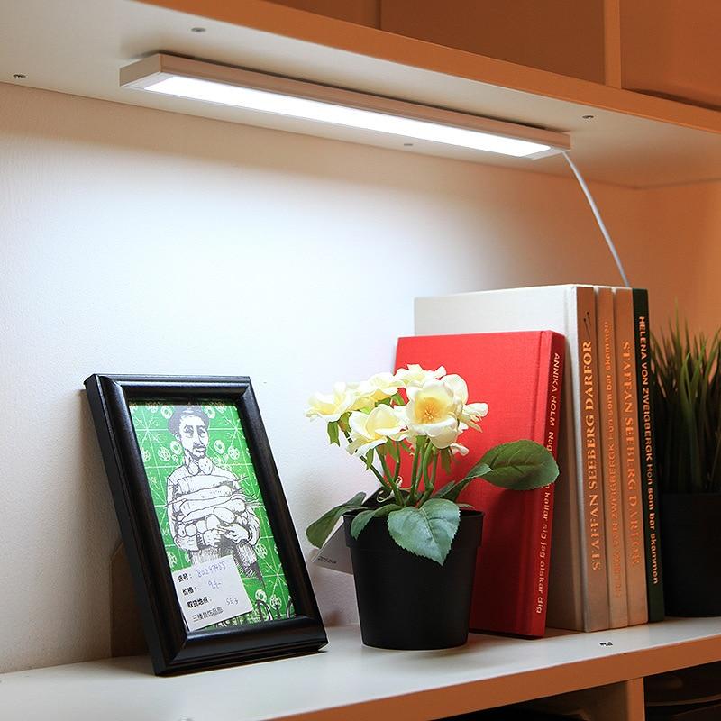 цена на New LED Night Light Bedroom Kitchen Cabinet Wardrobe Dormitory Bar Lamp Home Decor White DC 5V USB Rechargeable Student Lighting