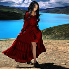 2015 Women winter dress vestidos Christmas women long dress traditional classic style party dresses long sleeve maxi dress