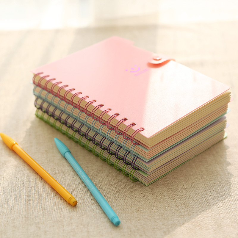 smile macarons creative coil notepad notebook korea stationery