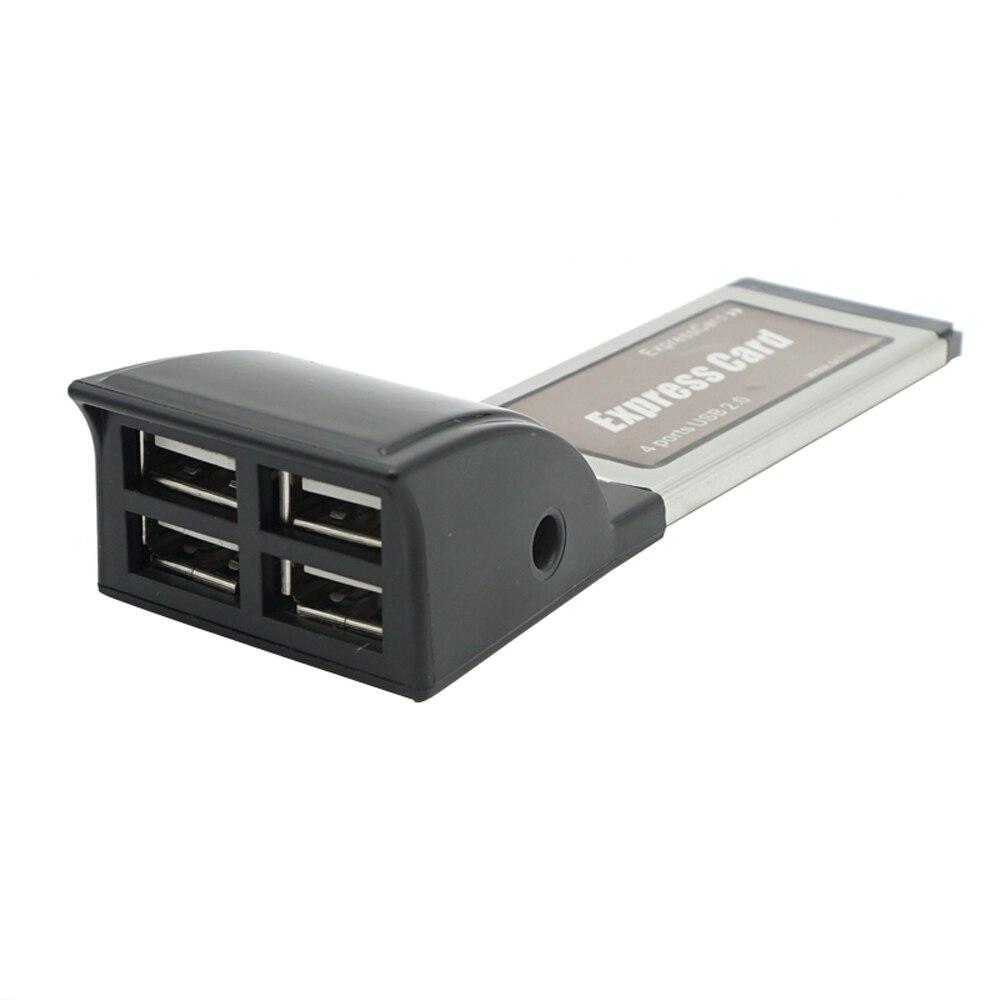 Expresscard para 4 Expresscard de 34mm para Usb Jack de Transferência de 480 Portas Adaptador Externo v dc Mbps Usb2.0 5