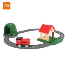 Xiaomi Mi Rabbit Track Building Blocks Sound and Light Train Set Childrens Baby Toys Wooden Assembled Rail Car