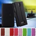 De moda del teléfono case para lenovo 2010 angus2 litchi soporte de la carpeta de pu bolsa de cuero para lenovo a2010 a 2010 cash card holder fundas