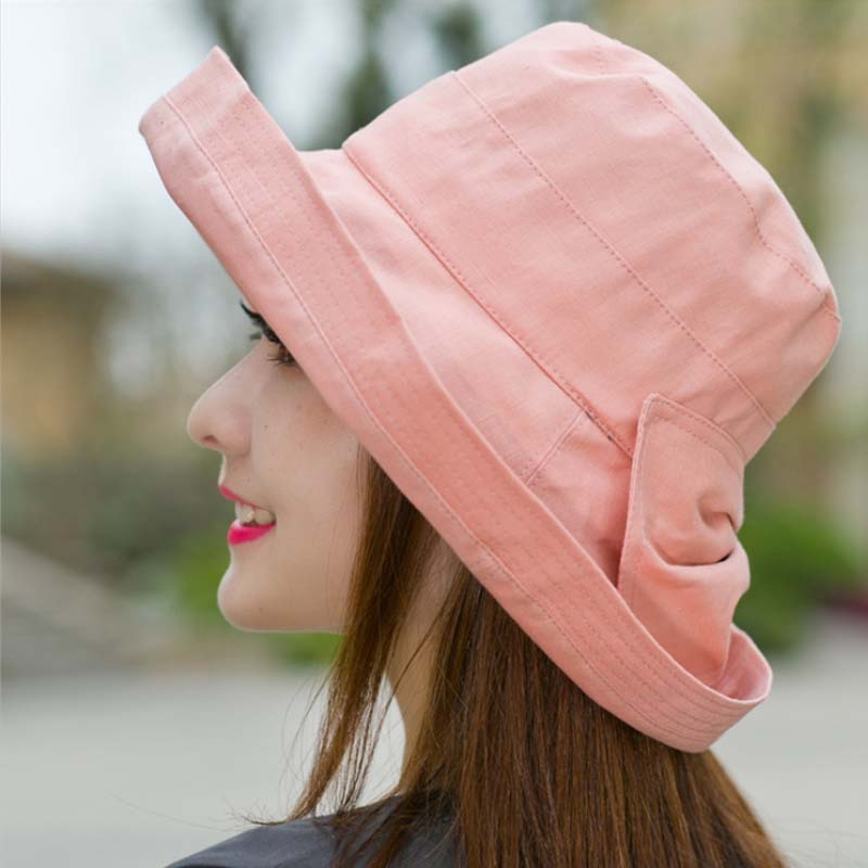 Gratë Bowknot Sun Hat, Dizajn Hats Peshkatar Beach Beach, Anti-UV - Aksesorë veshjesh - Foto 4