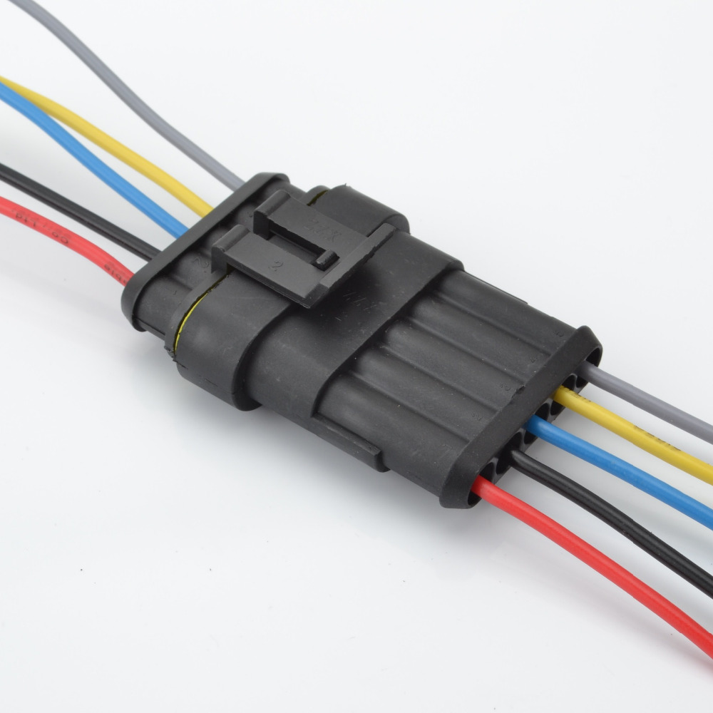 car 5p auto wire connector waterproof socket wire harness power cable cord connector plug [ 1000 x 1000 Pixel ]