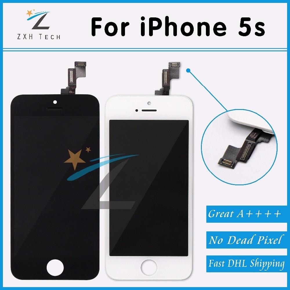 imágenes para 20 UNIDS/LOTE Alibaba China 100% Sin Píxeles Muertos para el iphone 5S Pantalla LCD Con Pantalla Táctil Digitalizador Asamblea Reemplazo a través de DHL