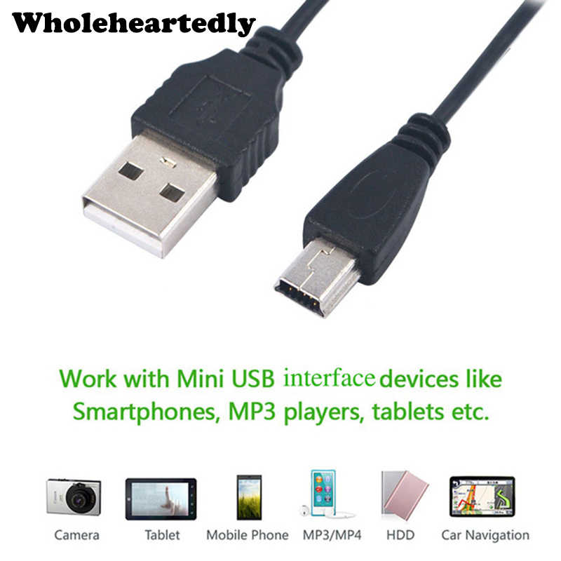 10 шт./лот 80 см USB 2 0 A папа мини 5 Pin B Синхронизация данных зарядный кабель шнур