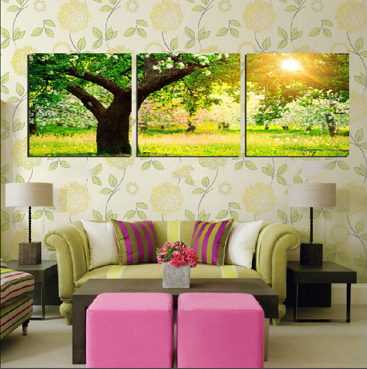 Trees Under The Sun Oil Painting Decor Modern Art Painting Living Room Pictures Print On Canvas