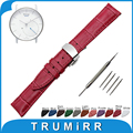 18mm Genuine Leather Watch Band for Withings Activite / Steel / Pop Stainless Butterfly Buckle Strap Wrist Belt Bracelet + Tool