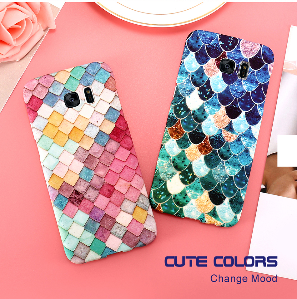 3D Scales Colorful Case For Phone 6 5 6S 7 Plus  (2)
