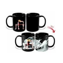 Förderung Magie Tassen One Piece Affe D Luffy Becherschale Keramik Kaffee milch Tee Tassen Farbwechsel Heiß Kalt Wärmeempfindlichen Becher