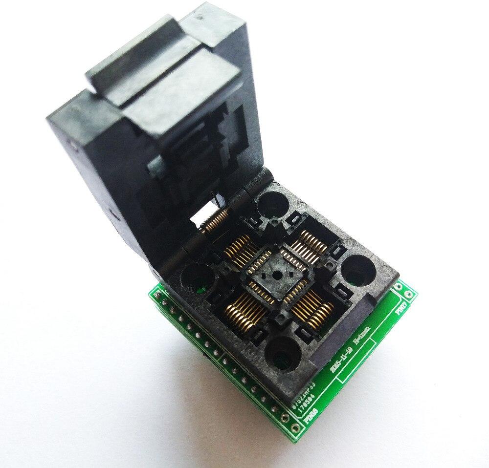 Envío gratis LQFP32 TQFP32 QFP32 A DIP28 adaptador socket apoyo ATMEGA328 AVR ATMEGA8 ATMEGA8A MCU TL866A TL866CS
