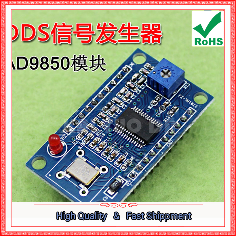 Free Ship 1pcs AD9850 Module DDS Signal Generator Adjustable High Frequency Sine Wave Square Wave Transmit