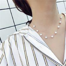 Женское короткое ожерелье с имитацией жемчуга чокер бижутерия