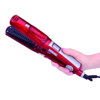 2018 Red Steam Hair Straightener Flat Iron Ceramic Hair Iron Electric Hair Straightening Brush Styling Tools