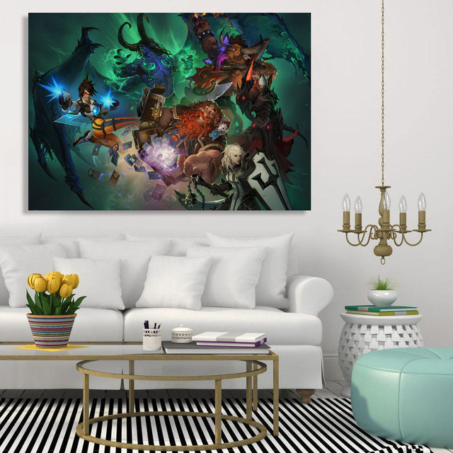 1 Piece Canvas Art Canvas Painting Game Blizzard Warriors HD Printed Wall Art Home Decor Poster Pictures for Living Room XA1477C 1