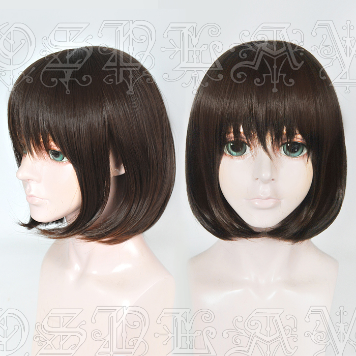 Game Life Is Strange Max Caulfield Cosplay Wigs Dark Brown Heat Resistant Synthetic Hair Wig + Wig Cap