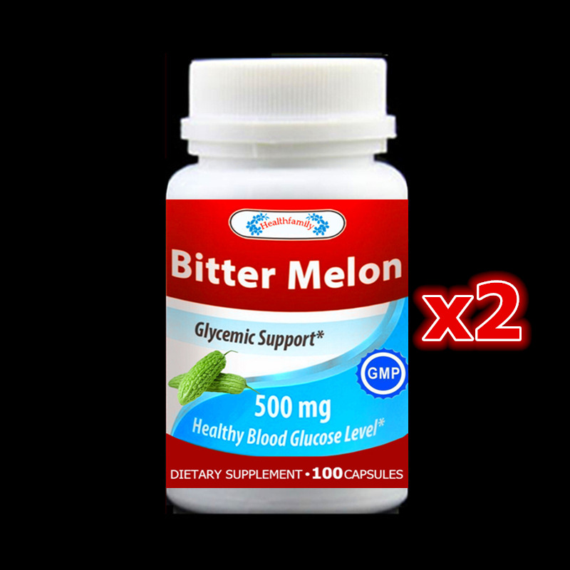 2 bottle 200pcs, Cure Diabetes, Bitter Melon Extract ,Reduce sugar and heat in blood, For Hyperglycemia,Glycemic Support bitter almond extract amygdalin 98% vitamin b17
