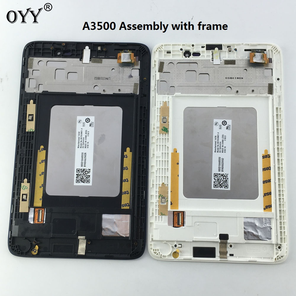 LCD Display Panel Screen Monitor Touch Screen Digitizer Glass Assembly with frame For Lenovo TAB A7-50 A3500 A3500-F A3500-H lcd display screen panel monitor touch screen digitizer glass for asus google nexus 7 1st gen nexus7 2012 me370 me370t me370tg