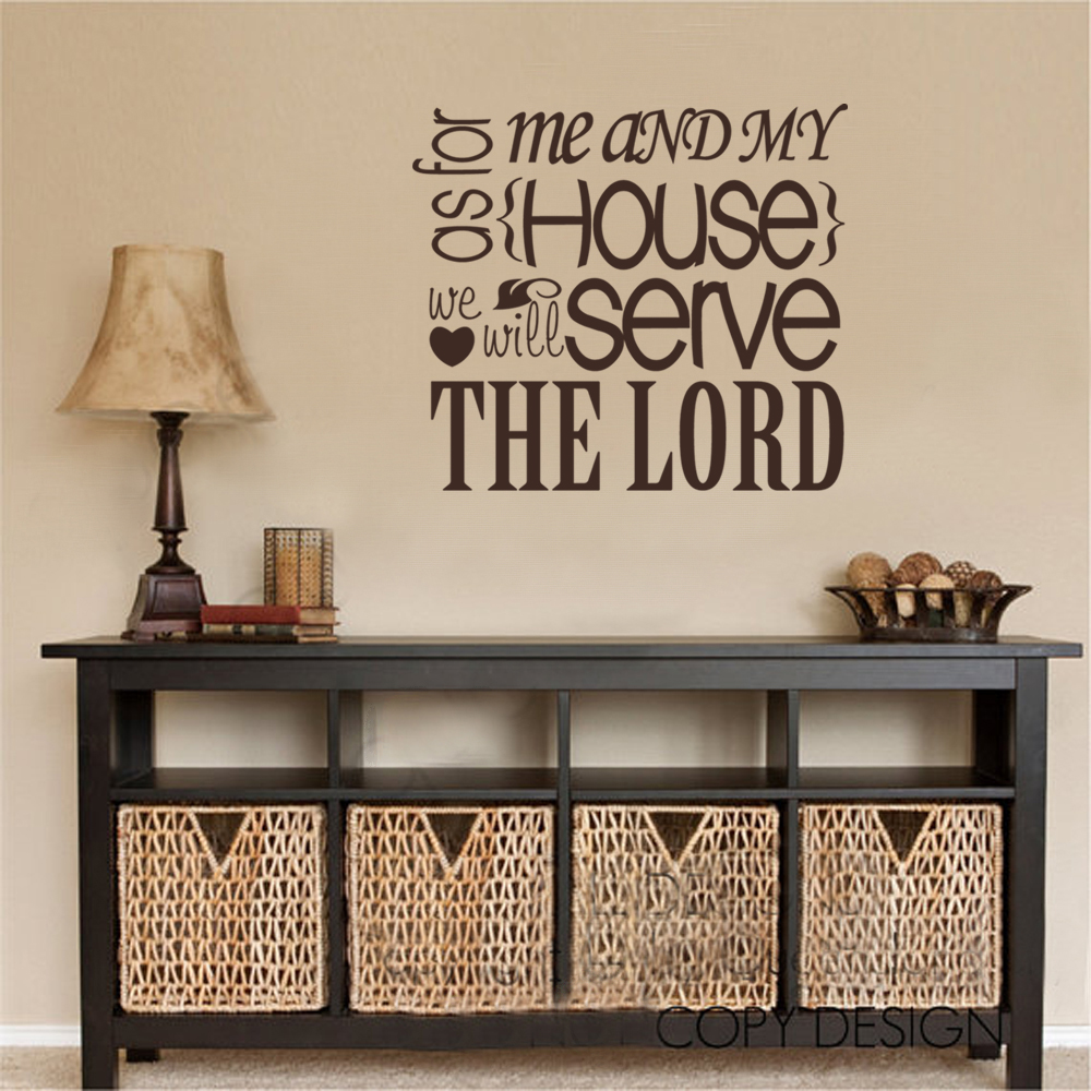 As For Me And My House We Will Serve The Lord Joshua 24 15 Wall Decal Sticker Vinyl Decor 50 8cm X56cm In Stickers From Home Garden On