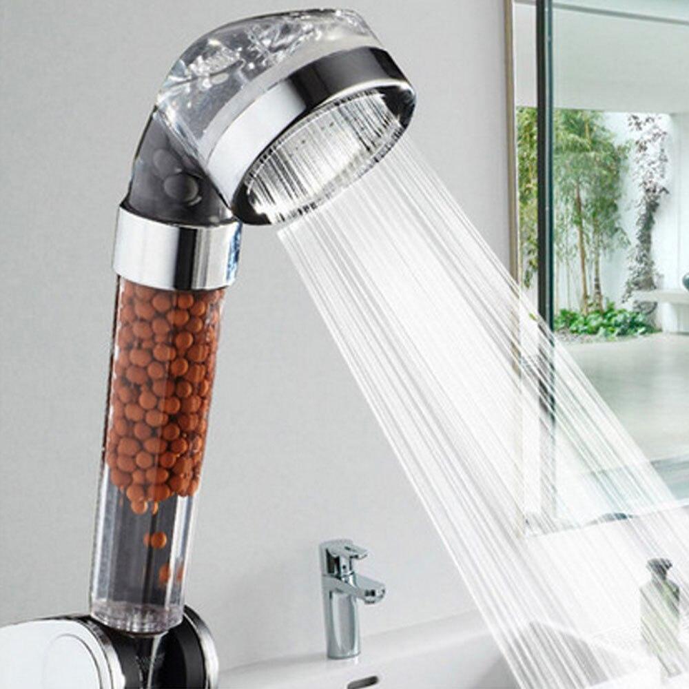 Dusche kopf halter Bad 2018 Gesunde Anion SPA Wasser Therapie dusche set Bad Dusche Düse für Bad Zubehör filter