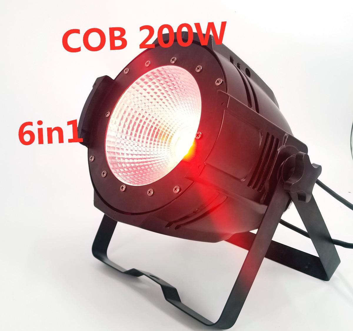 200W COB Led Par Light RGBWA UV 6in1  Dj Light LED DMX Disco Stage Lighting Effects